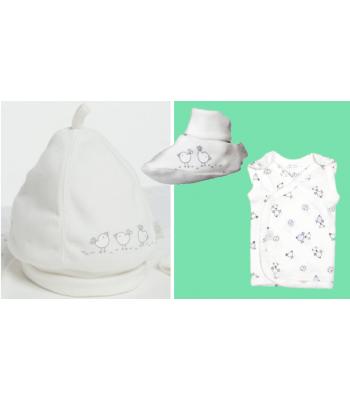 Set abbigliamento essenziale per prematuri in Terapia Intensiva Neonatale