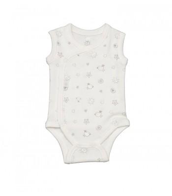 Body smanicato per neonato prematuro bianco