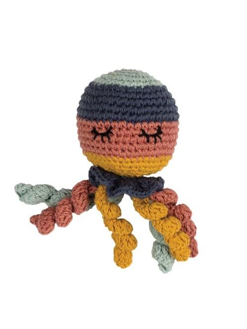 Pupazzetto Hoppa Octopus sonaglio