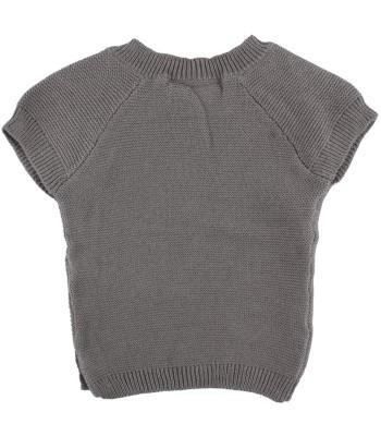 Gilet di maglia grigio per prematuro (Retro)