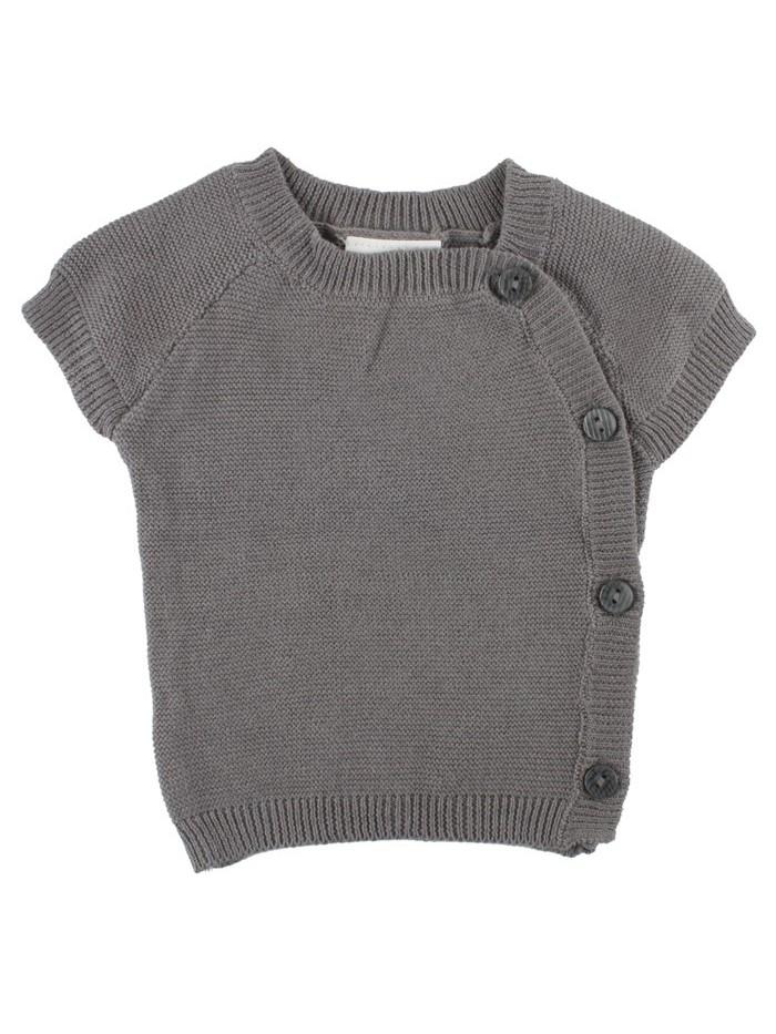 Gilet di maglia grigio per prematuro (Fronte)