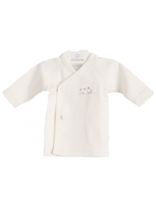 Maglietta kimono bianca Birds