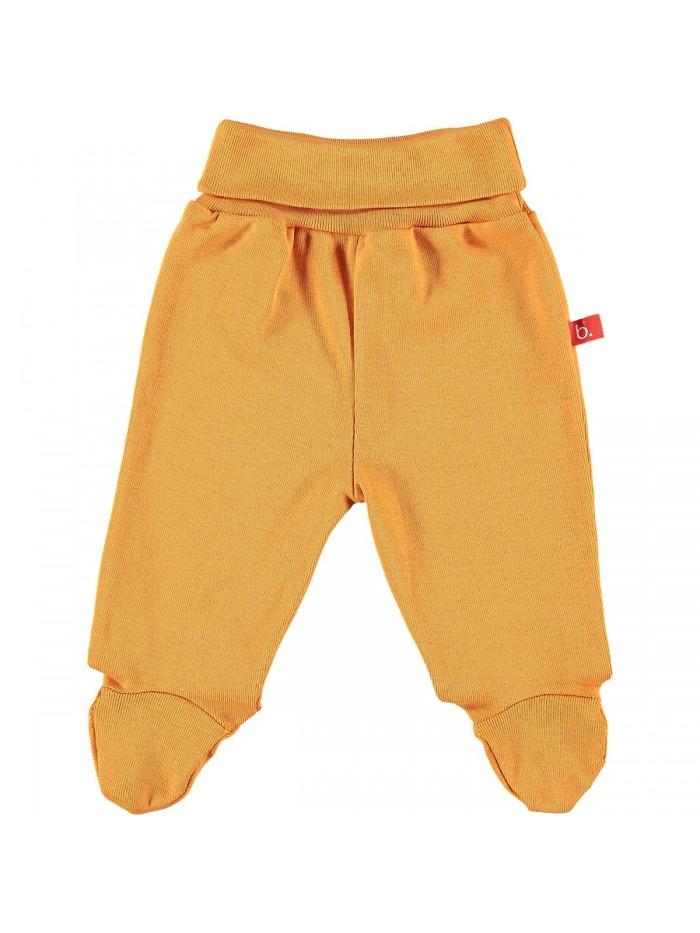 Pantaloni con piedini per prematuro arancione