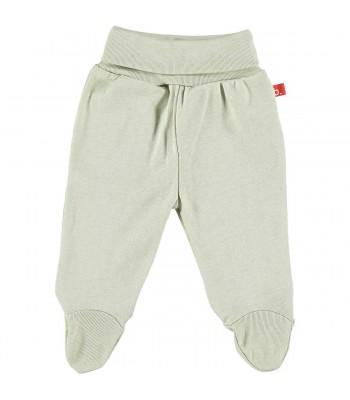Pantaloni con piedini per prematuro beige