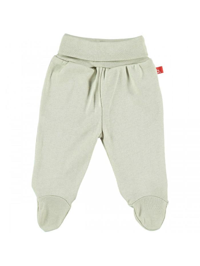 Pantaloni con piedini beige per prematuro