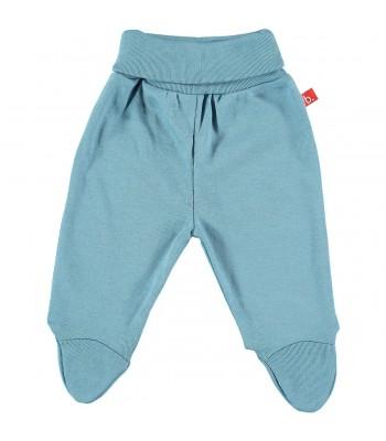 Pantaloni con piedini per prematuro denim