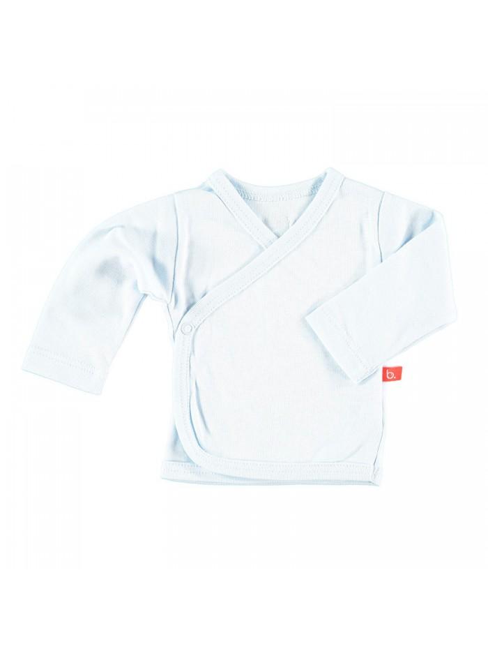 Maglietta kimono per prematuro azzurro