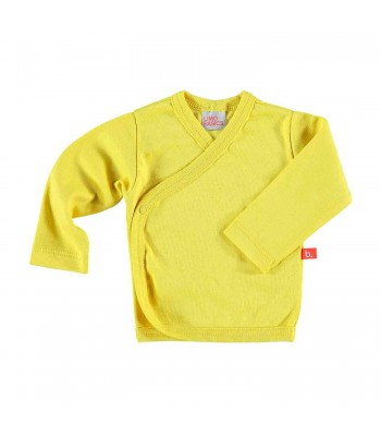 Maglietta kimono per prematuro giallo mostarda
