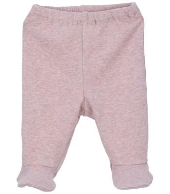Pantaloni con piedini rosa cipria per prematura