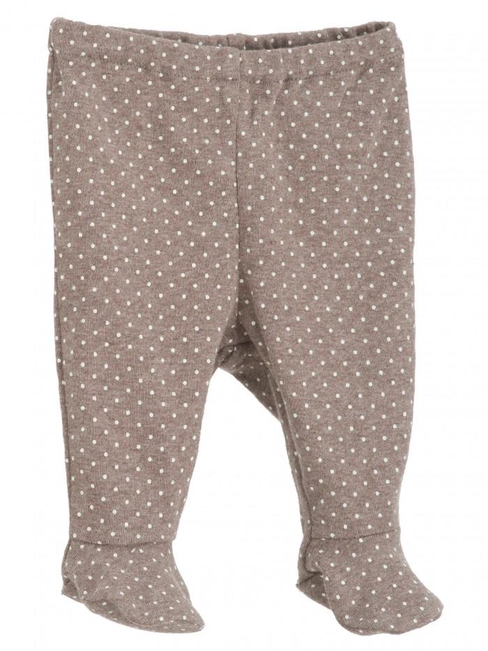 Pantaloni con piedini cioccolato a pois per prematura
