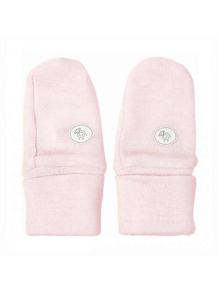 Guantini in lana merino rosa per prematuro