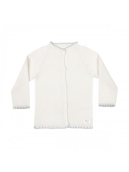 Cardigan in maglia di lana merino per prematuro