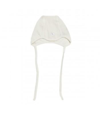Cappellino termico in lana merino con laccetti per prematuro.