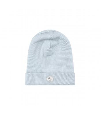 Cappellino in lana merino azzurro per prematuro