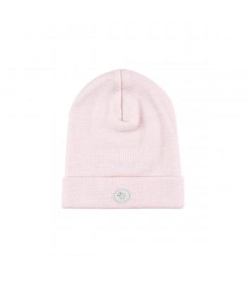 Cappellino in lana merino rosa per prematuro