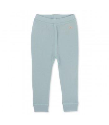 Pantaloni in lana merino azzurro per prematuro