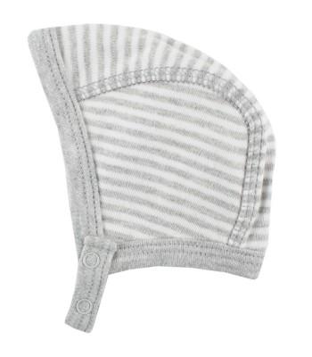 Cappellino a righe bianco / grigio per prematuro