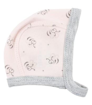 Cappellino rosa Api in cotone bio per prematuri. Spedizione Gratis!