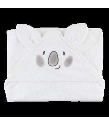 Asciugamano biologico bianco con cappuccio per prematuri