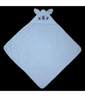 Asciugamano biologico azzurro con cappuccio per prematuri