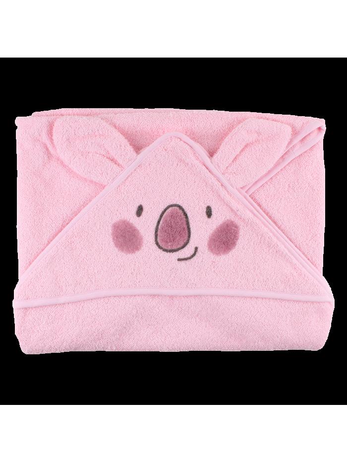 Asciugamano biologico rosa con cappuccio per prematuri
