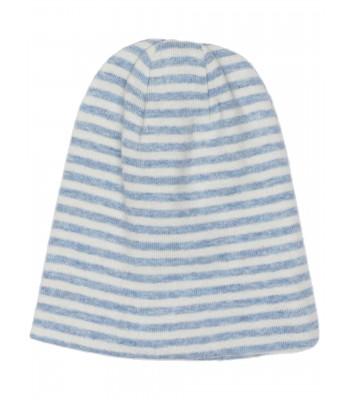 Cappellino a righe azzurro/panna per prematuro
