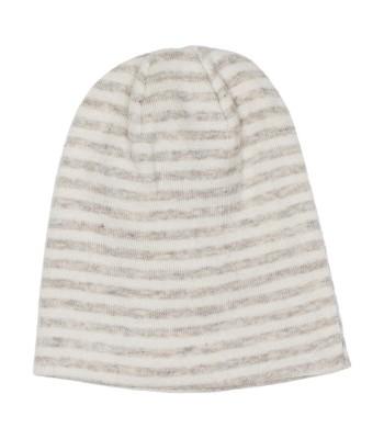 Cappellino a righe grano/panna