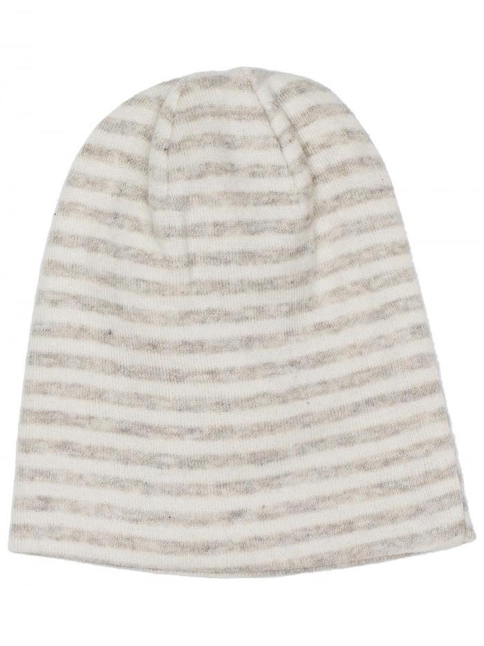 Cappellino a righe grano/panna per prematuro