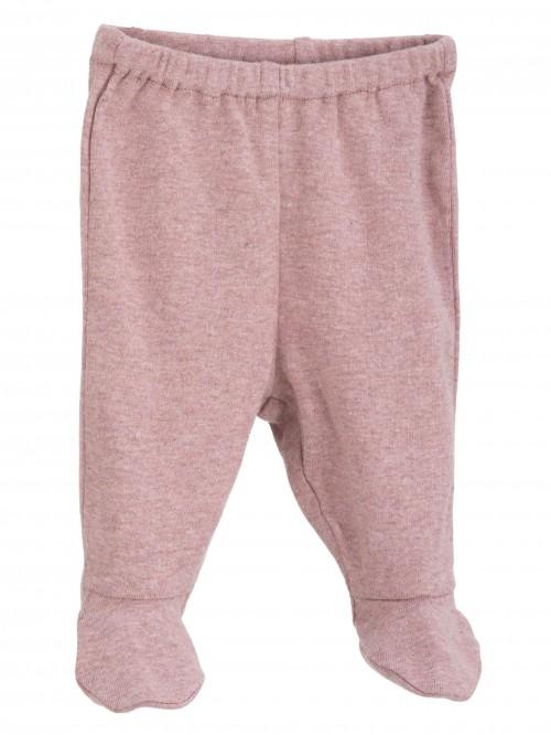 Pantaloni con piedini rosa melange