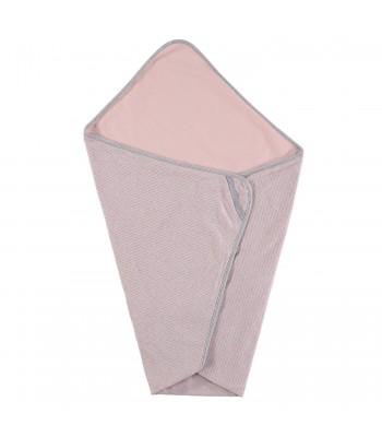 Copertina a righe rosa/grigio