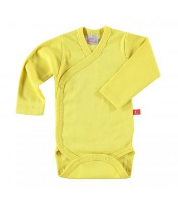Body maniche lunghe giallo mostarda per prematuro