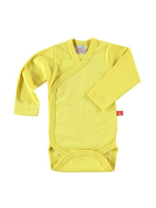 Body maniche lunghe giallo mostarda