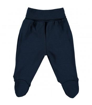 Pantaloni con piedini blu per prematuro