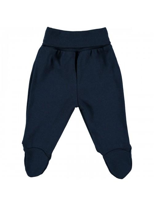 Pantaloni con piedini blu