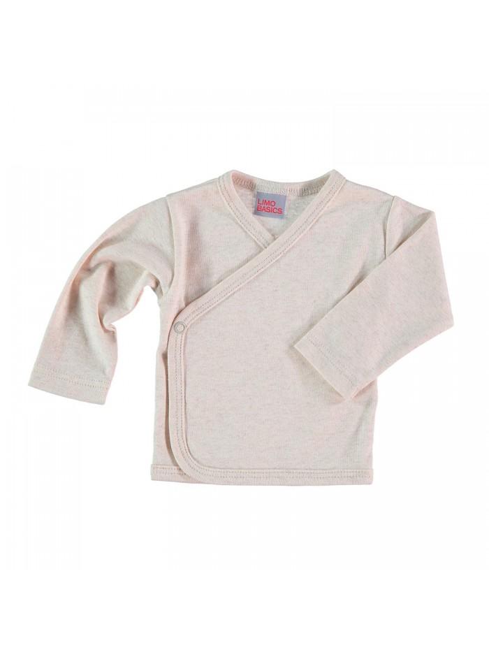 Maglietta kimono sabbia melange per prematuro
