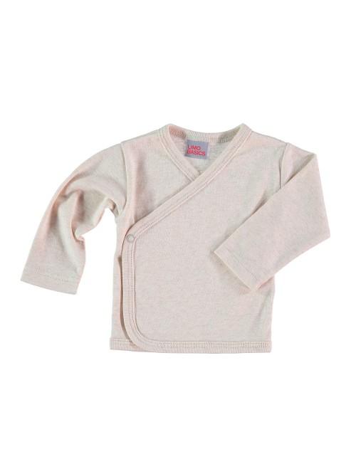 Maglietta kimono sabbia melange