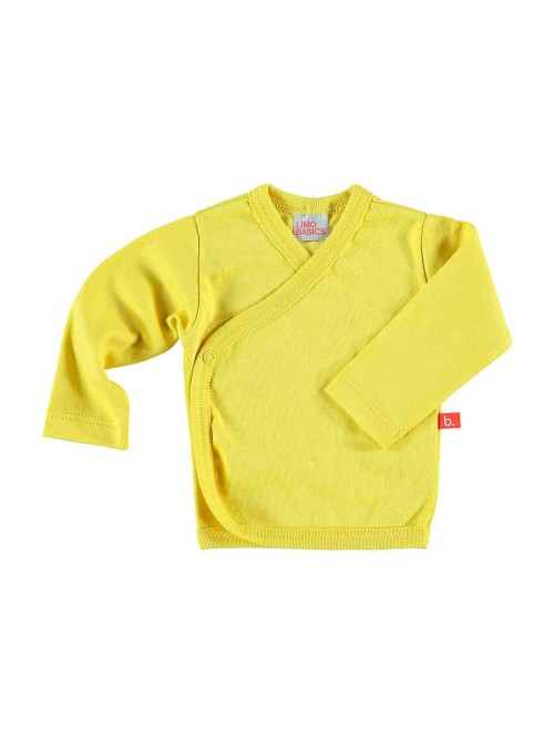 Maglietta kimono giallo mostarda