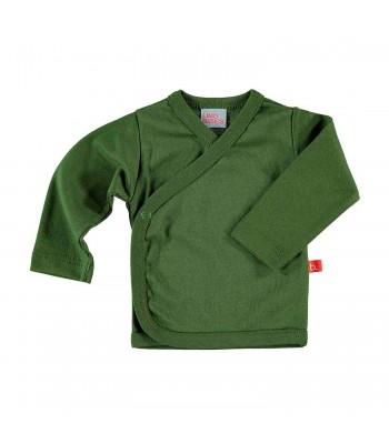 Maglietta kimono verde oliva per prematuro