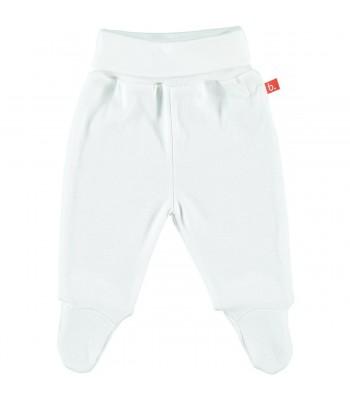 Pantaloni con piedini bianco per prematuro