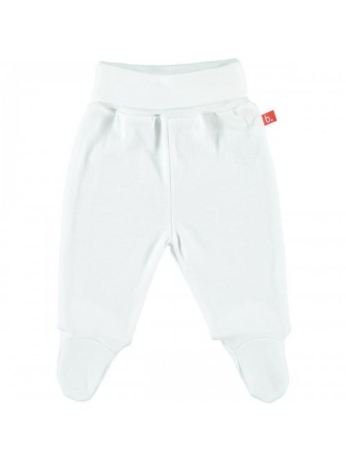Pantaloni con piedini bianco