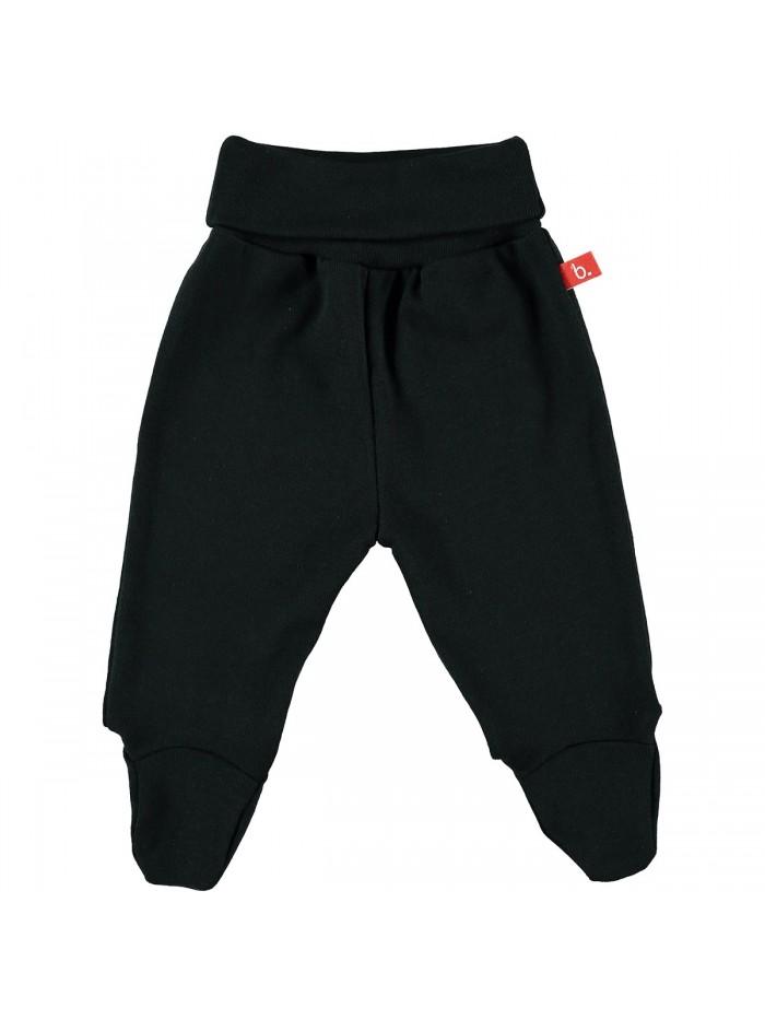 Pantaloni con piedini nero per prematuro
