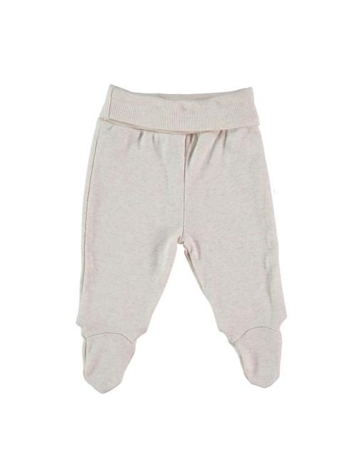 Pantaloni con piedini sabbia melange