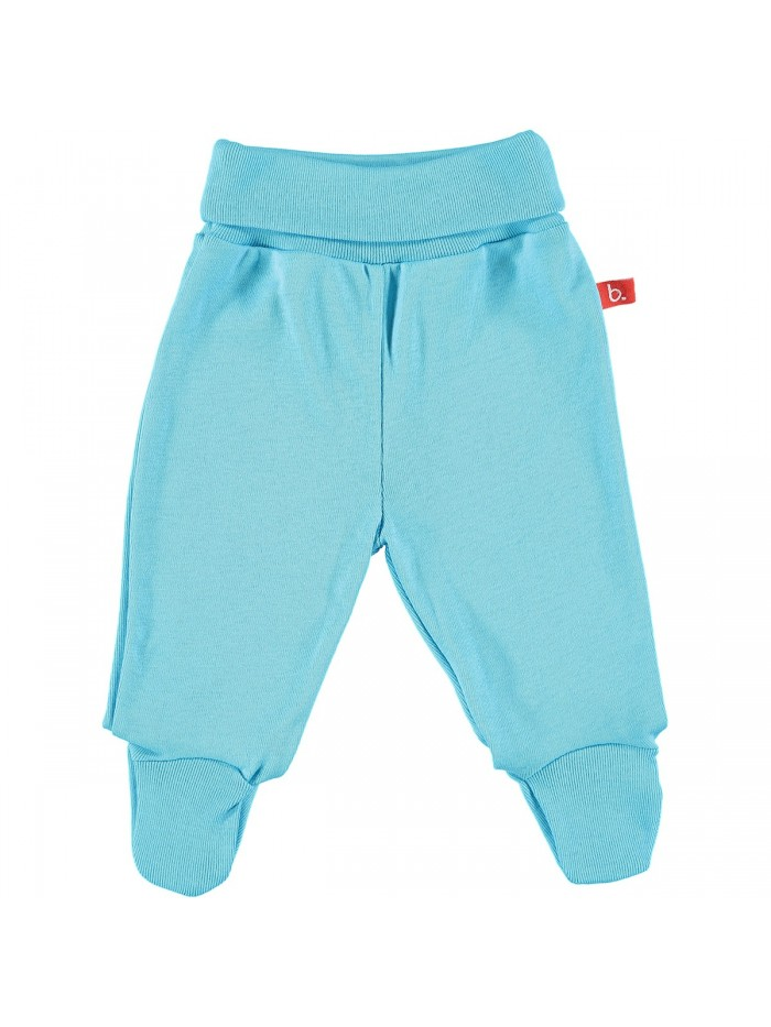 Pantaloni con piedini turchese per prematuro