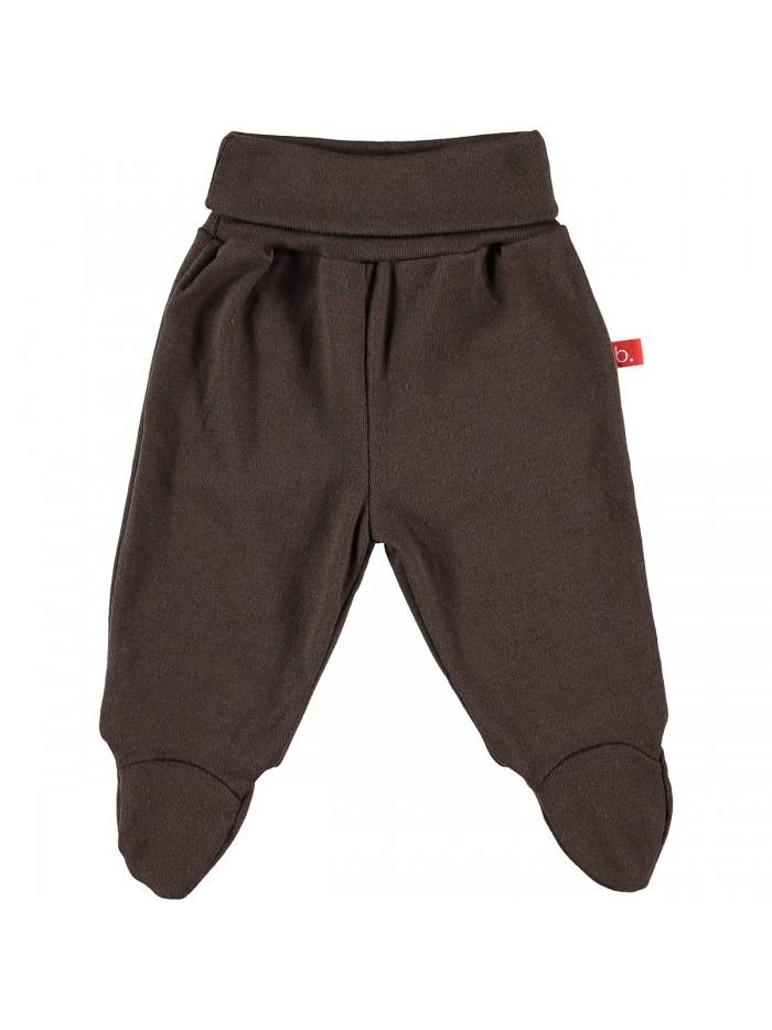Pantaloni con piedini cioccolato per prematuro