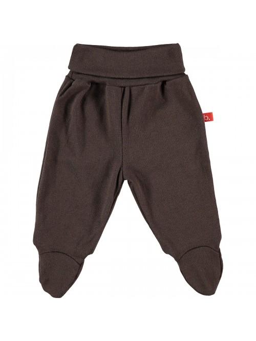 Pantaloni con piedini cioccolato