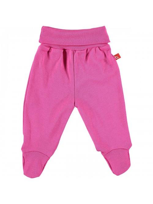 Pantaloni con piedini fucsia