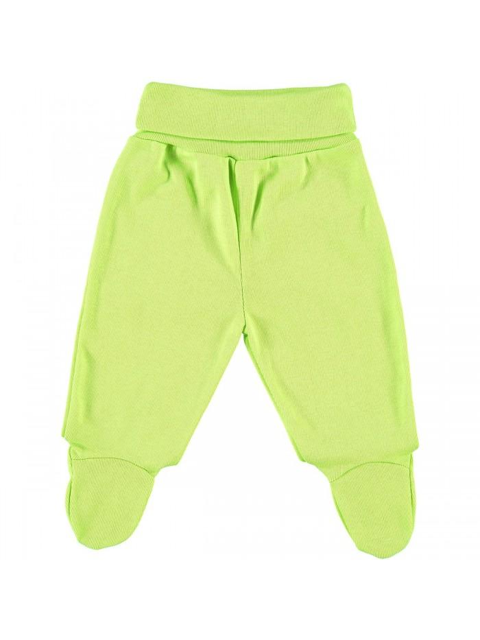Pantaloni con piedini lime per prematuro