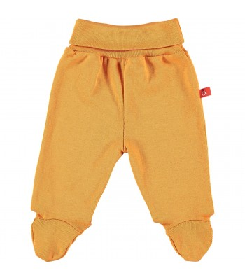 Pantaloni con piedini arancione per prematuro