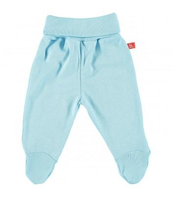 Pantaloni con piedini celeste per prematuro