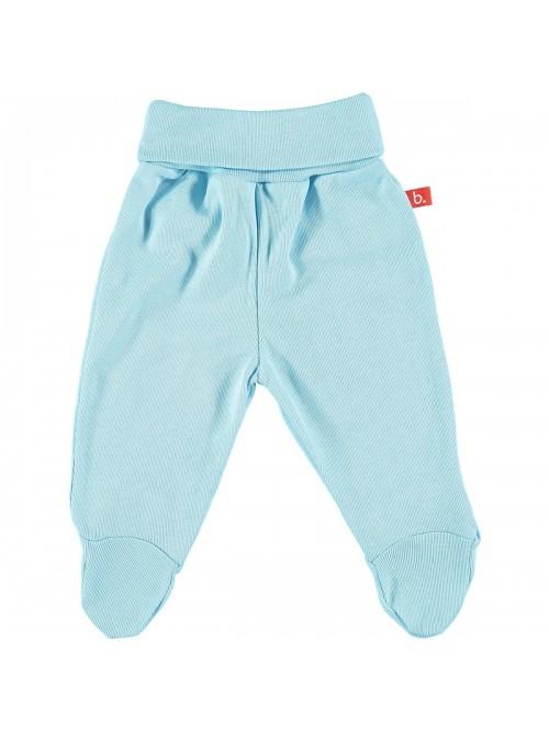 Pantaloni con piedini celeste